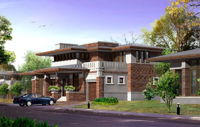 900平米古典别墅小院装修效果图