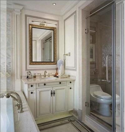 3平米卫生间玻璃门把手装修效果图