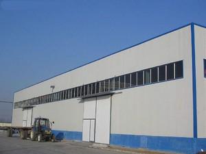 450平米藍白相間彩鋼廠房裝修效果圖
