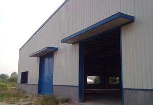 500平米擺放貨物的彩鋼廠房裝修效果圖