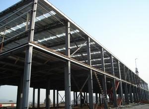 1600平米彩鋼廠房外部結構裝修效果圖