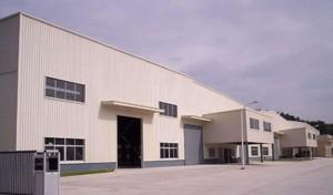 1400平米灰白色彩鋼廠房裝修效果圖