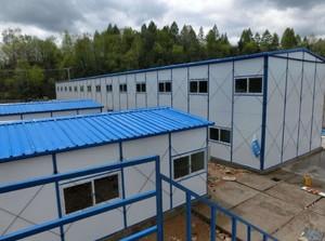 1200平米多層工地彩鋼房裝修效果圖