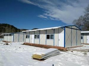 300平米藍白色彩鋼房雪中裝修效果圖