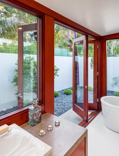 5平米卫生间玻璃折叠门装修效果图