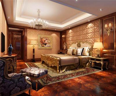 140平米三居室臥室豪華家具裝修效果圖