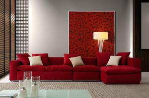 105平米現代風格紅色家具裝修效果圖