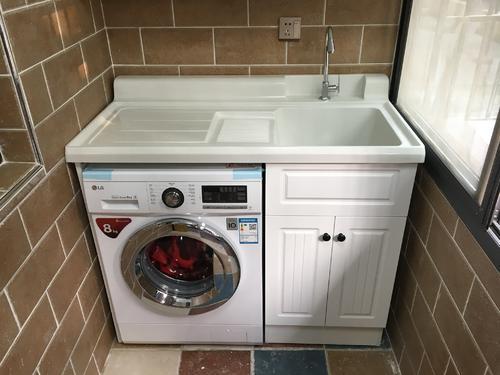 43平米公寓日式风格阳台洗衣台装修效果图