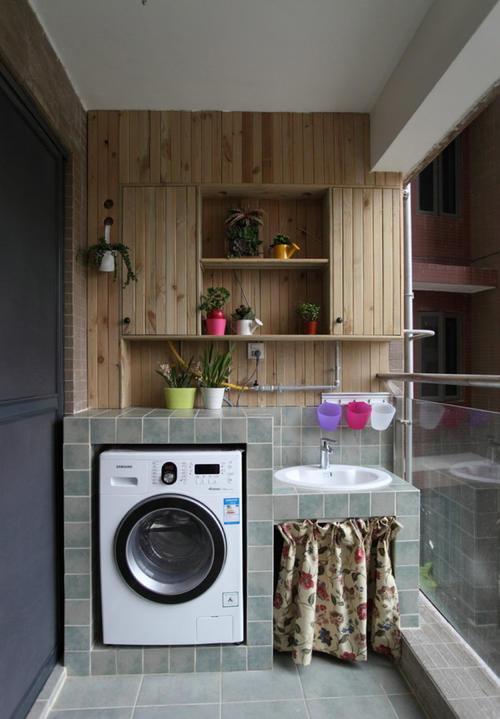 150平米别墅法式风格阳台洗衣台装修效果图