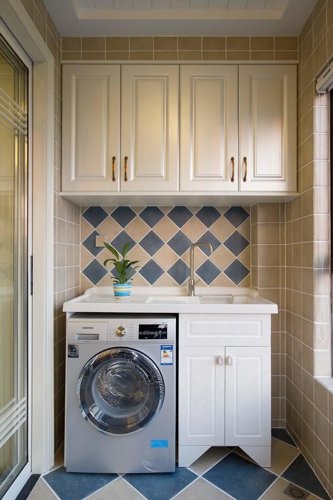 200平房子北欧现代风格阳台洗衣台装修效果图