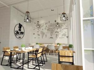 200平米轻快风格咖啡屋装修效果图