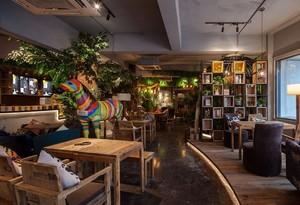 260平米自然风格咖啡屋装修效果图