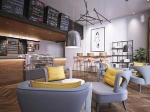 180平米现代风格咖啡屋装修效果图