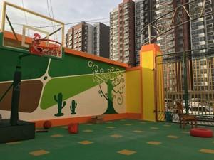 200平清新风格幼儿园墙壁画效果图