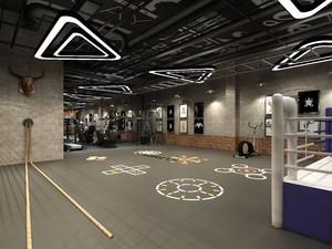 200平时尚工业风室内健身房装修效果图
