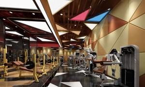 300平简约几何风室内健身房装修效果图