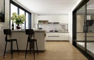 109平米兩居室北歐風格廚房吧臺臺面裝修效果圖