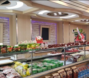 大型百货商场内部食物柜台装修效果图