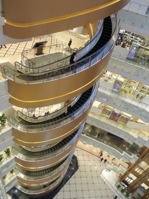 螺旋式楼梯百货商场装修效果图