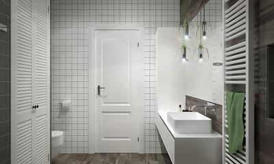 90平米卫生间北欧门窗装修效果图