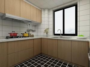 開放式廚房踢腳線裝修效果圖
