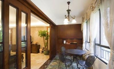 230平米古典風格別墅客廳陽臺隔斷圖片大全