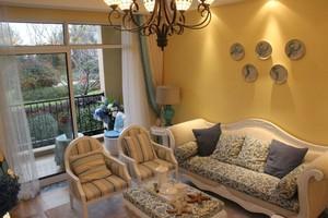 60平米一居室樓盤樣板間地中海風格裝修效果圖