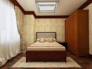 儿童房中式床头柜装修效果图