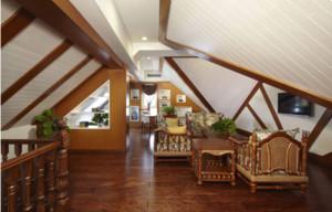 90平米房子閣樓木板吊頂裝修效果圖