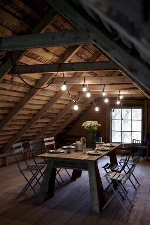 餐廳設計閣樓斜面吊頂裝修效果圖