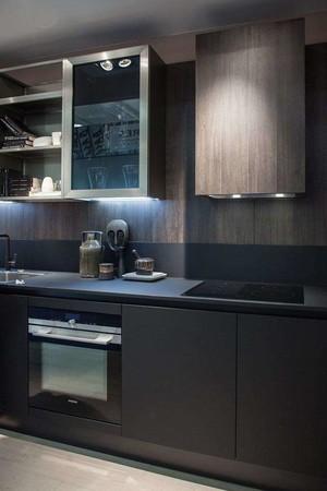 3平米黑色廚房臺面裝修效果圖