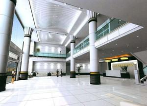 697平米歐式風格公司門廳吊頂裝修效果圖