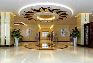 220平复古奢华风格酒店门厅吊顶装修效果图