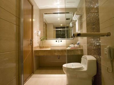 10平时尚轻奢风格宾馆卫生间吊顶装修效果图