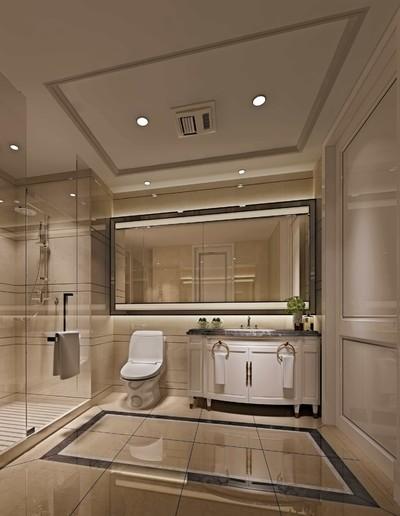15平现代风格宾馆卫生间吊顶装修效果图