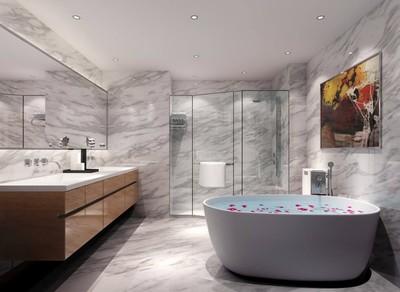 37平米浪漫风格宾馆卫生间吊顶装修效果图