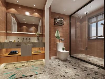 15平米简约风格宾馆卫生间吊顶装修效果图