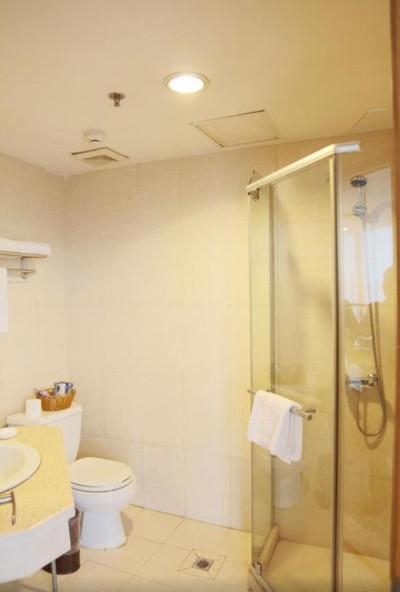 4平米小型简约风格宾馆卫生间吊顶装修效果图