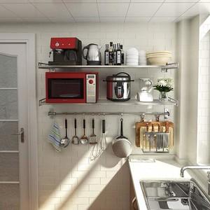 廚房壁掛式微波爐置物架圖片
