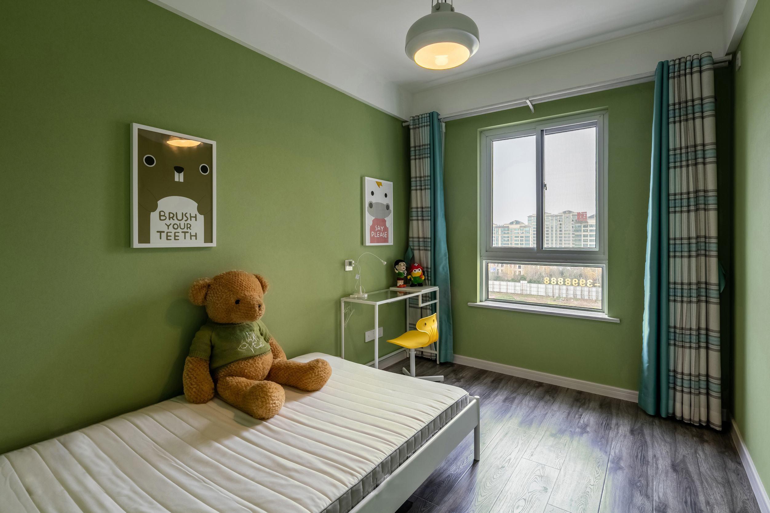 8平米淡绿色房间简约欧式风格装修效果图