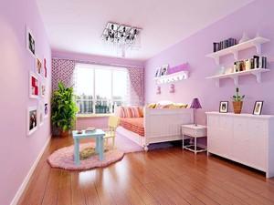 6平米淡紫色房间后现代风格装修效果图