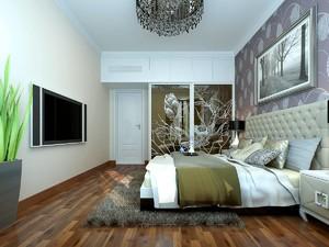 8平米淡紫色房间简约风格装修效果图