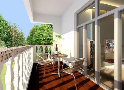 170平米中式風格別墅客廳陽臺隔斷裝修效果圖