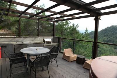 400平米簡約歐式風格別墅客廳陽臺隔斷裝修效果圖