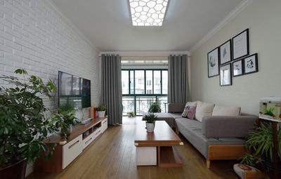 79平米房子简欧客厅不吊顶装修效果图
