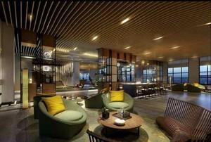 后現代飯店玄關吊頂裝修效果圖