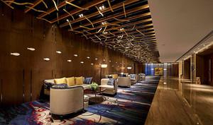 220平米酒店大廳石膏板吊頂裝修效果圖