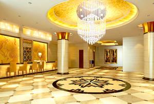 240平米酒店大廳石膏板吊頂裝修效果圖