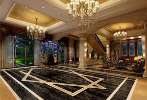 235平米酒店大廳石膏板吊頂裝修效果圖