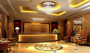 230平米酒店大廳石膏板吊頂裝修效果圖